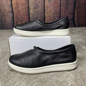 Eileen Fisher Sydney Slip-On Black Leather Shoes